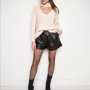 ZARA knit cream chunky cotton choker sweater